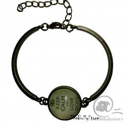 Bracelet Keep Calm and love Dogs