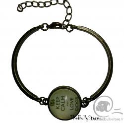 Bracelet Keep Calm and love Dogs