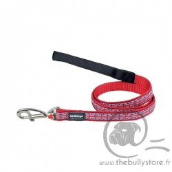 "leash Red Dingo Fantaisie rouge ""Union Jack"""