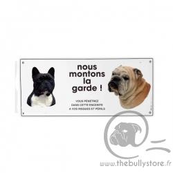 """Guard plate """"NOUS MONTONS LA GARDE"""""""