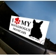 Sticker voiture Bouledogue Francais The Bully Store