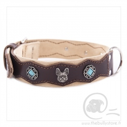 special leather pierre necklace French Bulldog