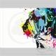 Toile Bulldog Anglais Drip Colors